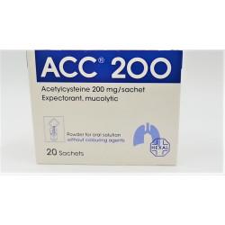 ACC ACETYLCYSTEINE 200 MG 20 SACHET