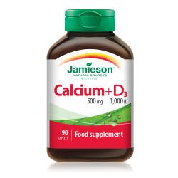 CALCIUM 500 MG + D3  1000 IU  JAMIESON