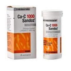 CALCIUM  SANDOZ +VIT C 1000MG  10TAB