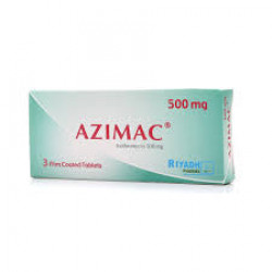 AZIMAC, Antibiotic for Gonorrhea & Acne Treatment - 500 mg 3 Tablets