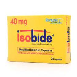 Isobide for angina pectoris 40 mg - 20 capsules