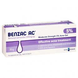 Benzac 5% Gel For Acne And Blackheads