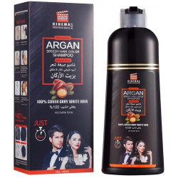 Argan oil shampoo for rapid white hair dye natural black 420 ml