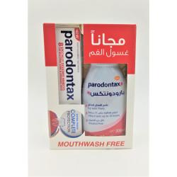 PARODONTAX TOOTH PASTE + MOUTH WASH FREE