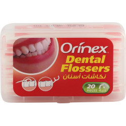ORINEX  DENTAL FLOSSERS  WITH PAPER WRAPPER 20PC