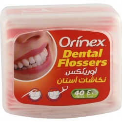ORINEX  DENTAL FLOSSERS  WITH PAPER WRAPPER 40PC